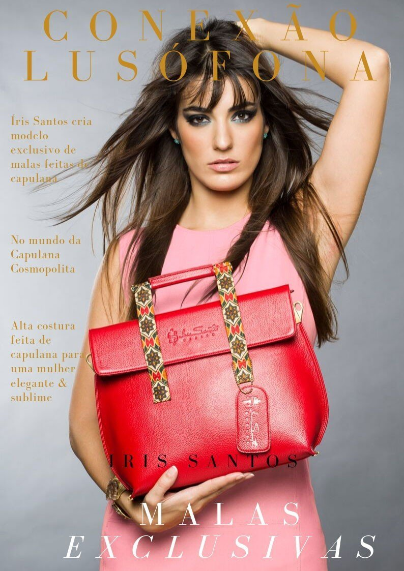 Interview about the latest on capulana fashion 2020. Leather handbags and capulana dresses with exclusive prints